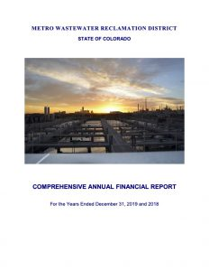 Comprehensive Annual Financial Report, Years Ending 2019 and 2018