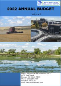 2022 Metro Water Recovery Budget, Vol. II